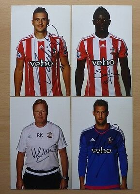 2015-16 Southampton Signed Official Club Cards