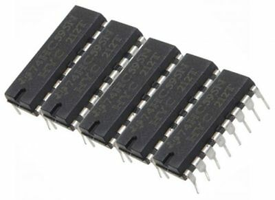 5 x SN74HC595N 8 bit Shift Register 74HC595 74595 DIP16 Arduino LED UK