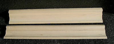 "2 Pieces 3 1/2"" X 21 1/2"" Clear Maple Crown Molding"