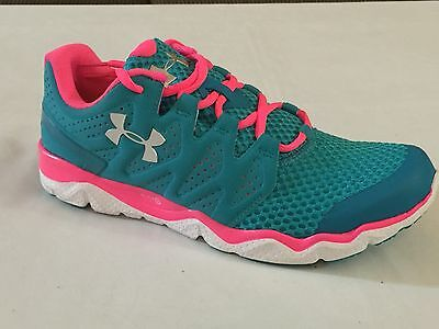 New Under Armour Women s Ua Micro G Optimum Shoes -Green   Pink - 1255125- 45a4dd22ca