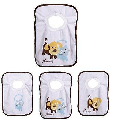 Dreambaby Baby Pull Over Terry Cloth Bibs, Pets Cats and Dogs, 4 pack