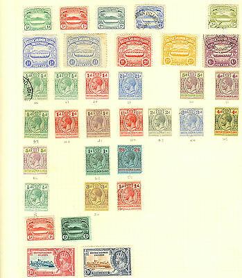 british Solomon islands, mainly mint on 2 album pages. Nice clean lot