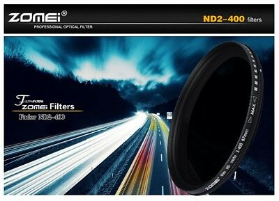 ZOMEi® Slim 82mm Variable ND Filter ND2 to ND400 Neutral Density