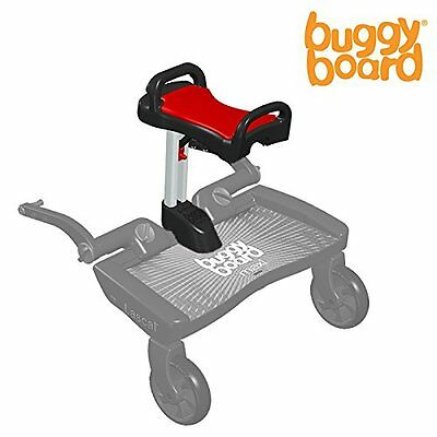 Lascal BuggyBoard Saddle (Red) - Universal Seat for Pushchairs