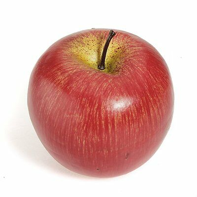 1pcs Decorative Artificial Fake Red Apple Plastic Home Party FK