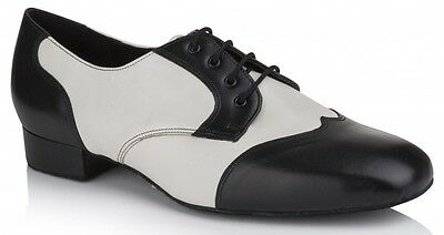 Freed Lucas Mens Dance Shoes in Black & Ivory 6,7,8,9,10,11,12 +1/2's