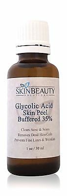 1 oz Glycolic Acid Skin Peel Buffered 35% AHA- Blackheads- Fine Lines & Wrinkles