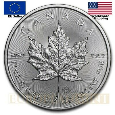 2017 1oz $5 Canadian 9999 Fine Silver Maple Leaf Bullion Coin BU