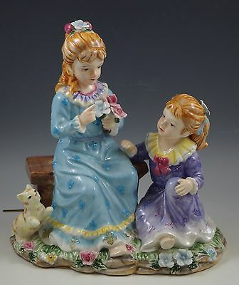 2003 Geo Z Lefton China Victorian Girls Playing,  Large Sculpture, Musical