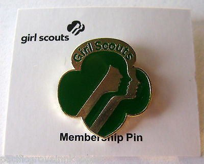 Current Girl Scout CONTEMPORARY MEMBERSHIP PIN 3 Faces NEW Junior Cadette Senior