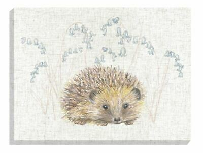 Evans Lichfield Rural Hedgehog Beige Linen Canvas Picture 40Cm X 30Cm