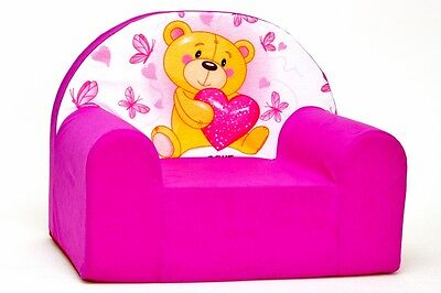 Kids Children's Armchair, 50 designs Comfy Soft Foam Chair, Sofa Seat SALE!