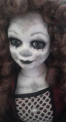 """Large 21"""" gothic dead  repainted ooak horror doll Prop"""