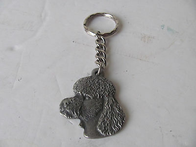 Rare Rawcliffe Pewter 1982 I Heart My Poodle Dog Pendant/key Chain  P. Davis