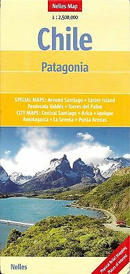 Map of Chile & Patagonia, by Nelles Map