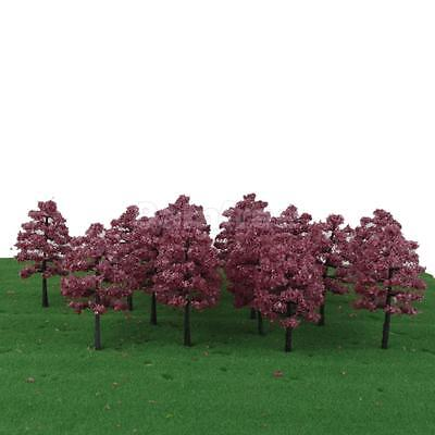 20 Model Trees HO OO Scale Layout Garden Park Scenery Wargame Diorama 1:100