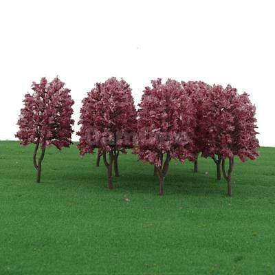 10 Model Trees HO OO Scale Layout Garden Park Scenery Wargame Diorama 1:100