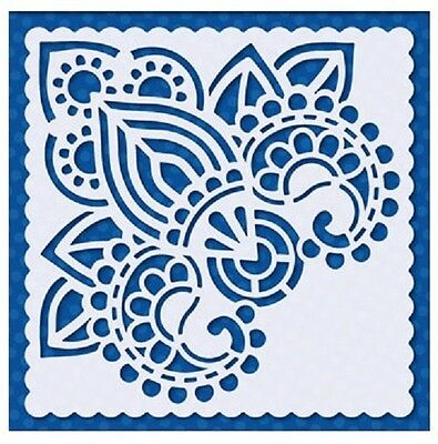 Flexible Stencil *INDIAN DESIGN* Embossing Card Making - 9.5cm x 9.5cm - Henna