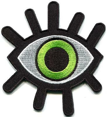Eye eyeball tattoo wicca occult goth punk retro applique iron-on patch S-1233