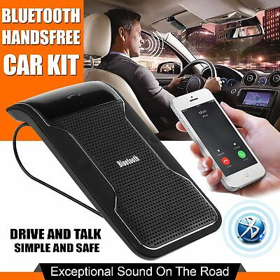 Hands-free Multipoint Wireless Bluetooth Speakerphone Speaker Car Kit Visor Clip