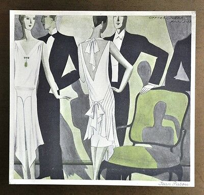 Annie Offterdinger Modezeichnung Fashion Illustration Jean Patou Paris 1928 Art