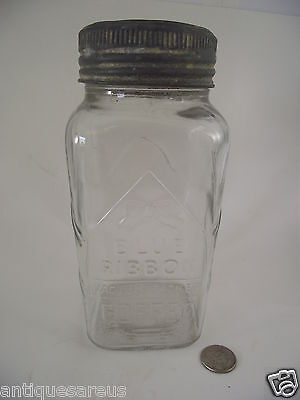 Blue Ribbon Vacuum Packed Coffee Glass Jar With Lid