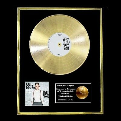 Olly Murs Right Place Right Time Cd Gold Disc Free P+P!