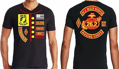 New USMC Marine Corps Marathon Black Finisher Cotton T Shirts  Size S,M,or L