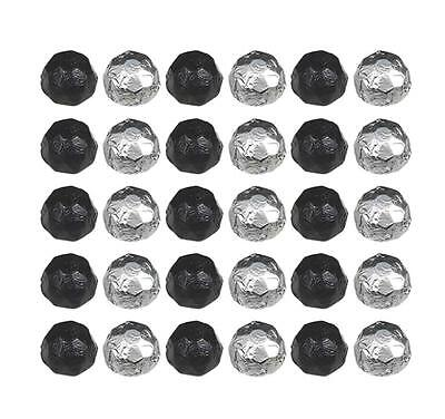100 Black And Silver Chocolate Diamonds - Wedding Parties Favours Candy Buffet