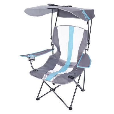 Kelsyus Premium Portable Camping Folding Lawn Chair with Canopy, Blue   80185