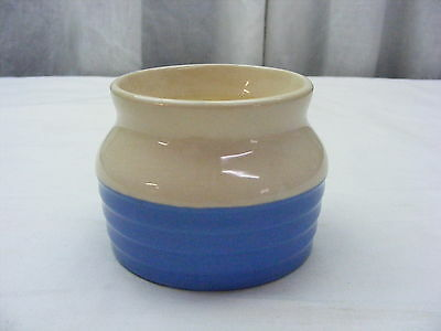 Vintage Universal Pottery Cambridge Bean Pot Blue White *1
