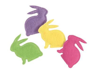 Easter Bunny Shaped Puffy Felt Confetti (20 Pieces)