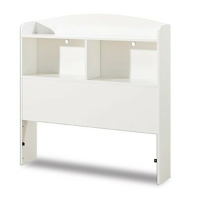 South Shore Furniture Logik Collection Bookcase Headboard Pure White
