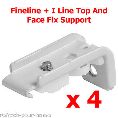 Speedy Fineline + I Line Top And Face Fix Track Support Brackets White Pack of 4