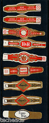 CIGAR BANDS -  (9) ANTIQUE - MINT VF-XF (Never Used)