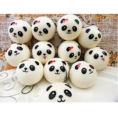 Squishy Charms Buns Cell Phone Charm Kawaii Jumbo Panda Bag Strap Pendant 1PCS