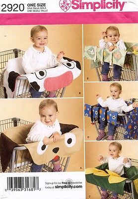 Simplicity Grocery Cart Covers Pattern 2920 UNCUT