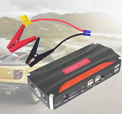 68800mAh Vehicle Car 12V Jump Starter Booster Battery Power Bank 4USB Charger
