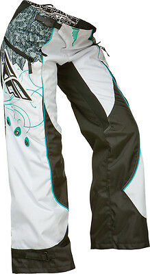 Fly Racing Kinetic Ladies Overboot Pant Teal/white Sz 22