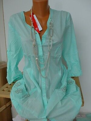 NEU 40//42-52//54 Aqua Mint 515 Sheego Long Bluse Tunika Kleid Gr