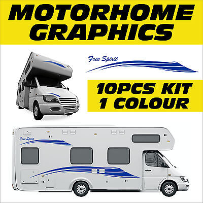 Motorhome Graphics,Campervan Adhesive Stickers, Exterior Signs & Decals, MHAB004
