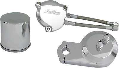 Jardine Oil Filter Relocaton Kit Without Cover Chrome for Yamaha V-Star XVS1100