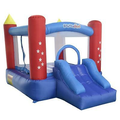 Bounceland Classic Bounce 'n' Slide Star 10ft Bouncy Castle with Airflow Fan