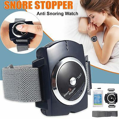 Infrared Snore Stopper Anti Snoring Aid Device Detector Wristband Watch Black UK