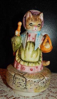 "Schmid Beatrice Potter Mrs. Ribby CAT ""Music Box Dancer"" THE ROLY-POLY PUDDING"
