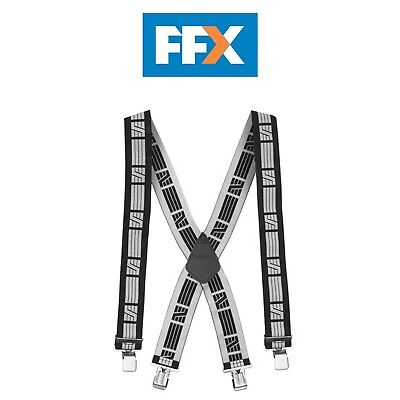 Snickers 90500418000 Elastic Braces in Black and Grey - Extra Wide Straps