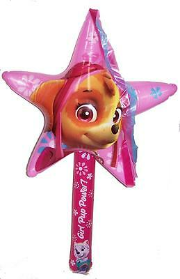2 PAW PATROL SKYE STAR WAND 36 INCH INFLATABLE novelty inflate toy new GIRLS