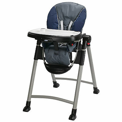 Graco Contempo Slim Folding Transportable Highchair, Midnight | 1918633