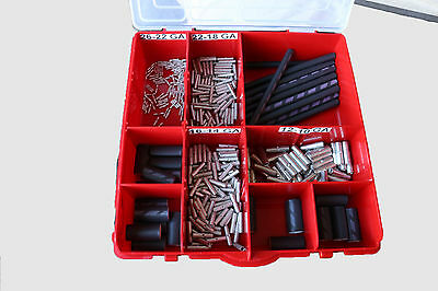 Uninsulated Butt Splice Kit  w/ Waterproof Adhesive Shrink Tubing 385 PCS