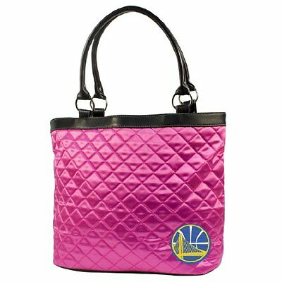 NBA Golden State Warriors Pink Quilted Tote